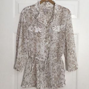 Chico's sheer blouse size 2